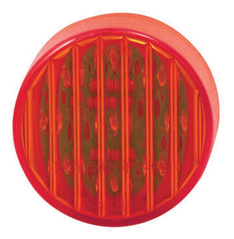 2 Inch Round 9 LED Marker Light with Ribbed Lines