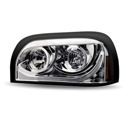 Century Halogen Projector Chrome Headlight Assembly with LED