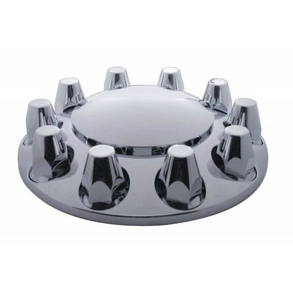 Chrome Plastic 33mm Uni-Mount Front Axle Cover Thread-On Set