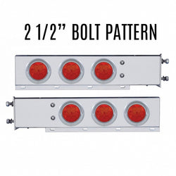 Spring Loaded Lt Bar with Six 4in 7 LED Light and Visor 2.5in Bolt Pattern