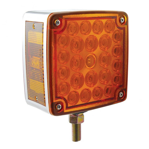 52 LED Reflector Double Face Turn Signal - Amber/Red Lens