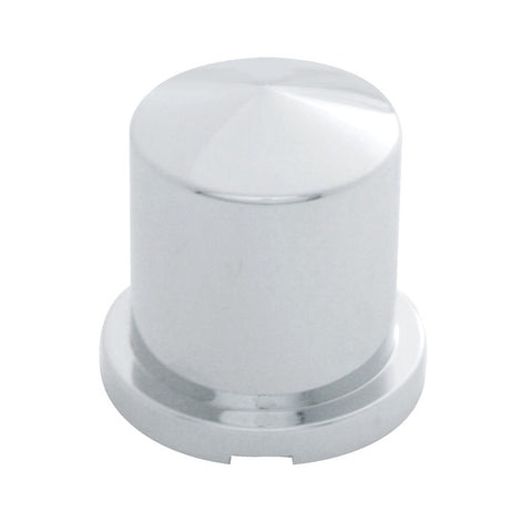 "Chrome Plastic Pointed Nut Cover - Push-On 1 1/8"" x 1 7/8"""