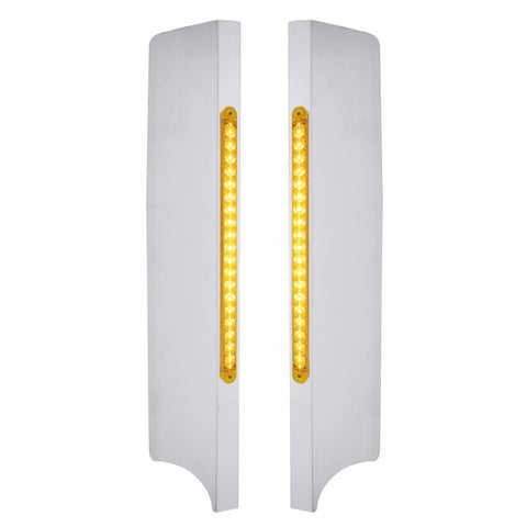LED PB Side Grille Deflector - Reflector - Amber LED/Amber Lens