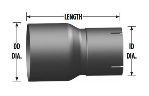 "5"" OD to 4"" ID Reducer - 8"" Length"