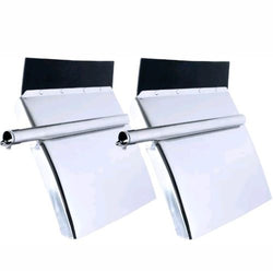 Stainless Quarter Fender Set 24 x 24 - Tube Bracket