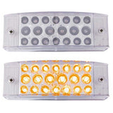 6 x 2 In Rectangular 20 LED Light w/ Reflector and Clear Lens