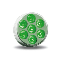 2 Inch 7 LED Dual Revolution Amber/Green Marker All in One Light
