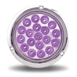 "4"" Dual Revolution Stop, Turn & Tail LED with Flange Mount - Red / Purple"