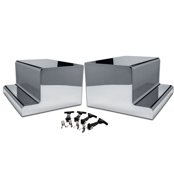 Peterbilt 304 Stainless Steel Battery And Tool Box Cover Set