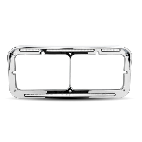 Universal Rectangular Flatline Headlight Bezel - White