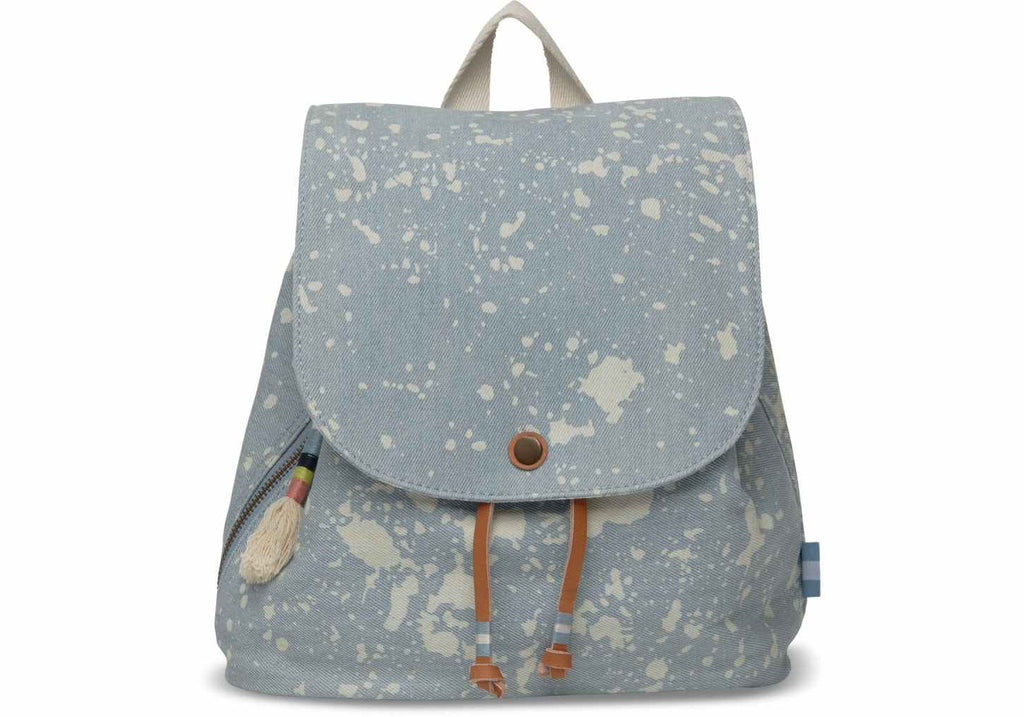 Blue Splatter Denim Poet Backpack