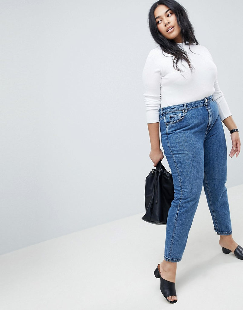 Plus Size Recycled Original Mom Jeans