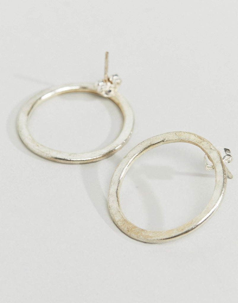 Fair Trade Silver Plated Circle Earrings
