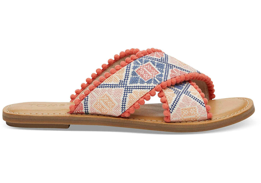 Geo Embroidered Viv Sandals