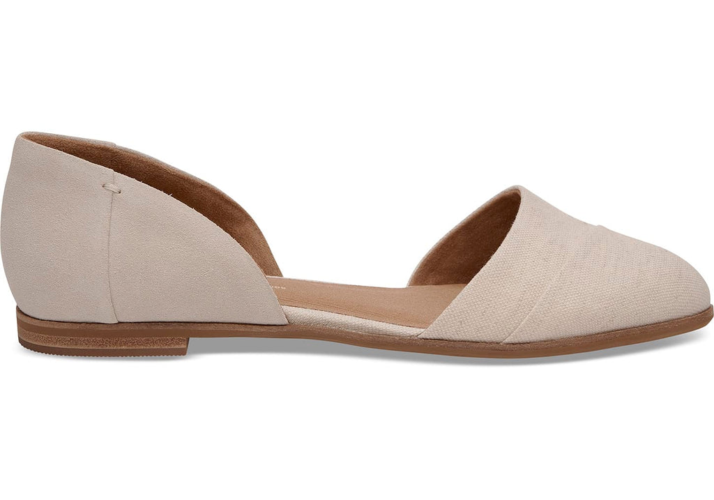 Birch Sued Natural Hemp Jutti D'Orsay Flats
