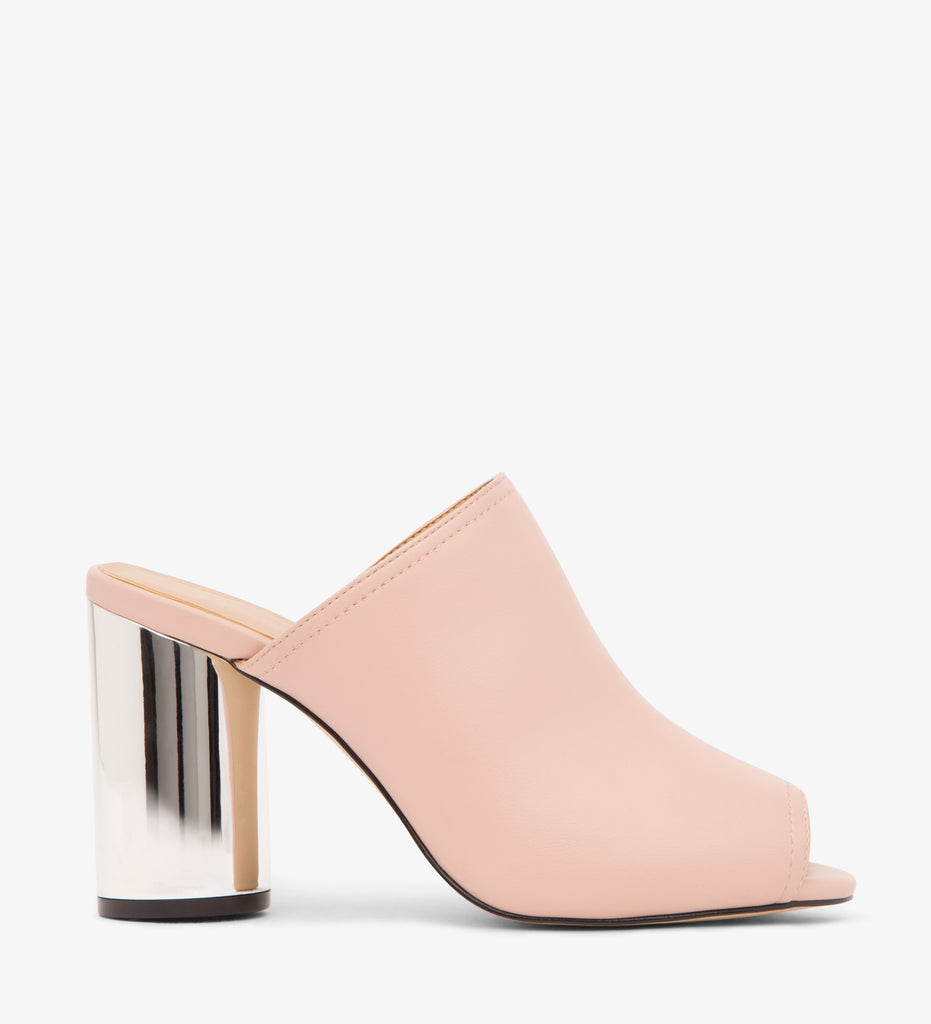 Leone Vegan Block Heeled Mules