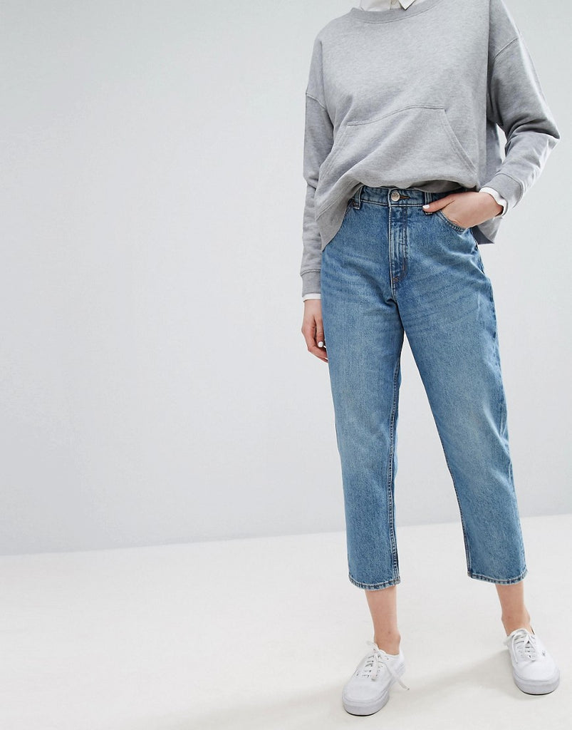 Taiki High Waist Mom Jeans - Blue