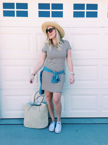 The Cassie Stripe Dress