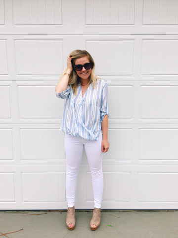 Set Sail Striped Blouse
