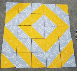 Offset Diamond Quilt Top
