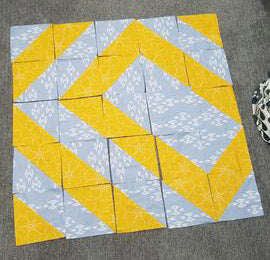 Offset Diamond Variant Quilt Top