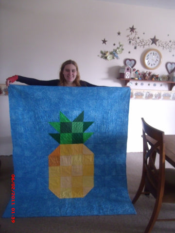 Grand daughter with quilt