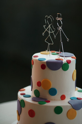 Wedding Polka dot cake