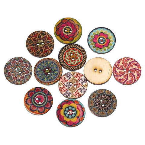 100 Piece 2-Hole Wooden Buttons
