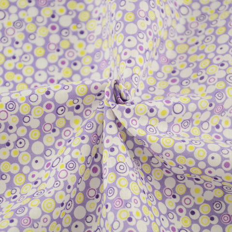 Purple and Yellow spirals - PREMIUM Sewing Fabric