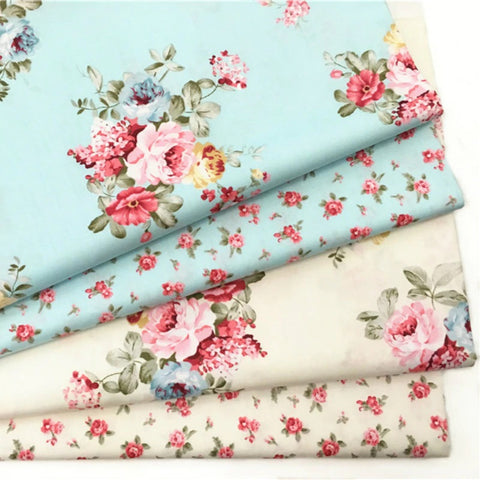 Victorian Inspired Flower Print Cotton Fabric Collection