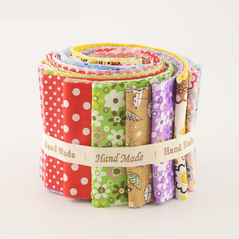 Jelly Roll - 7 pc lot - Mixed Cotton Fabric Strips