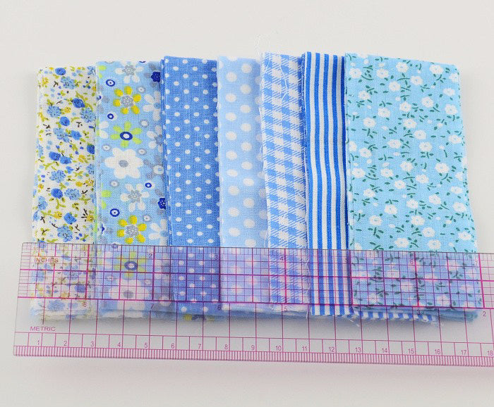 Jelly Roll - 7 pc lot - Cotton Fabric Strips - Blue Series ...