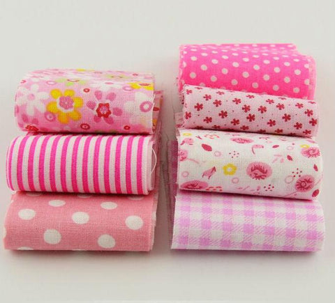 Jelly Roll - 7 pc lot - Cotton Fabric Strips - Pink Series