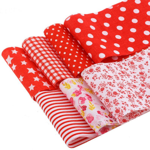 Jelly Roll - 7 pc lot - Cotton Fabric Strips - Red Series