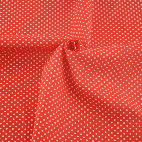 Red and White Polka Dots - PREMIUM Sewing Fabric