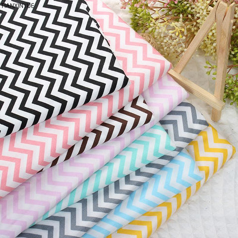 Fat Quarters - 8 Pc. lot - Chevron Printed Cotton Fabric