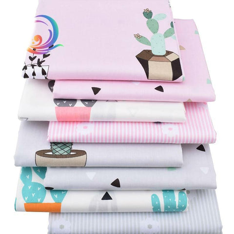 Fat Quarters - 8 pc. lot - Fun Printed Twill Cotton Fabric