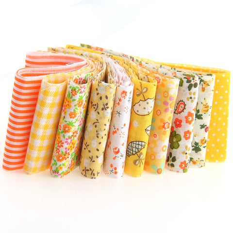 Jelly Roll - 10 pc lot - Cotton Fabric Strips - Yellow Series