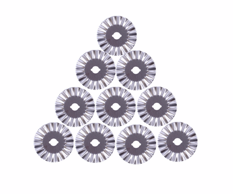 Rotary Cutters - 45mm Pinking Blades (10 Pack) for Olfa or Fiskars Cutter
