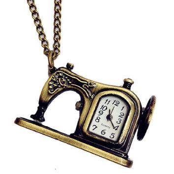Sewing Machine Clock Pendant