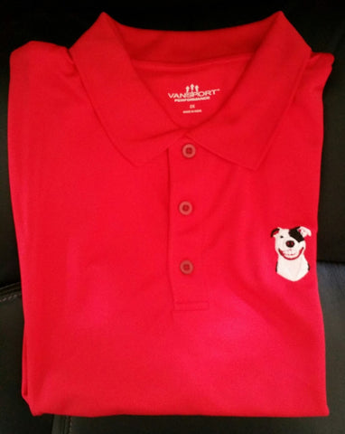 Red Men's Performance Polo