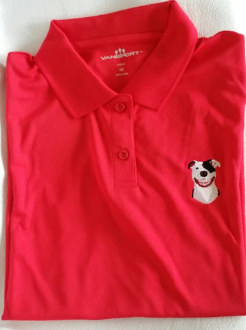 Red Women's Performance Polo