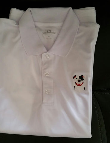 White Men's Performance Polo