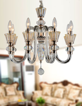 Alaina 8 Lights Chandelier (Champagne)