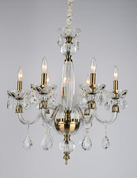 Albertine 6 Light Chandelier (Clear)