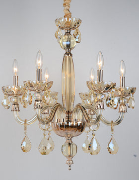 Albertine 6 Light Chandelier (Champagne)