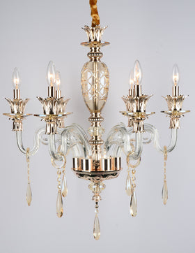 Alvina 6 Light Chandelier (Champagne)