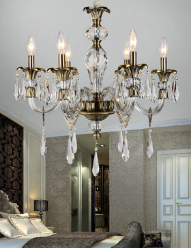 Amelia 6 Light Chandelier (Clear)