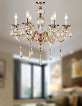 Amelia 6 Light Chandelier (Champagne)