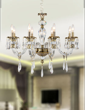 Amelia 8 Light Chandelier (Clear)